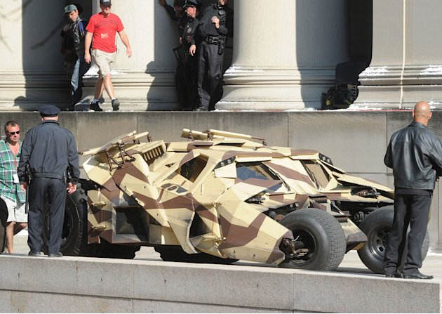 Spotted on set Aug 2011 Dark Knight Rises