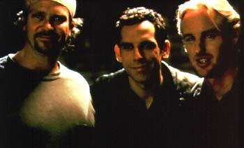Director David Veloz , Ben Stiller and Owen Wilson in Permanent Midnight