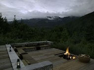 A bonfire at Amankora, Aman Resorts&#39; paradise in Bhutan