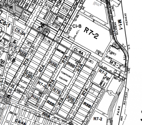 east village zoning map
