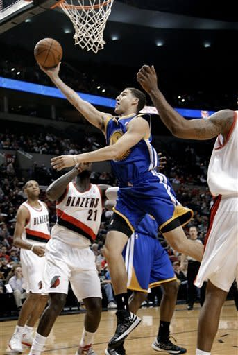 Lee's 24 points leads Warriors 101-97 over Blazers