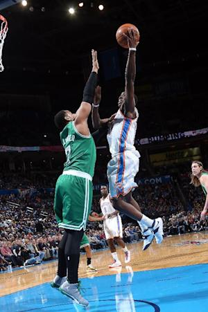 Jackson, Durant lead Thunder over Celtics 119-96