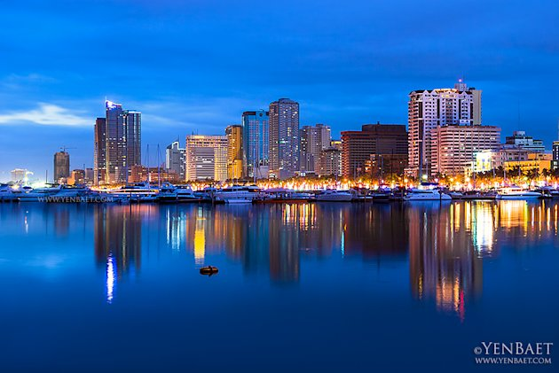 philippines-roxas-boulevard-skyline-jpg_064806 - Manila at twilight - Philippine Photo Gallery