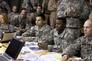 Michael Pena and Derek Luke in United Artists' Lions for Lambs