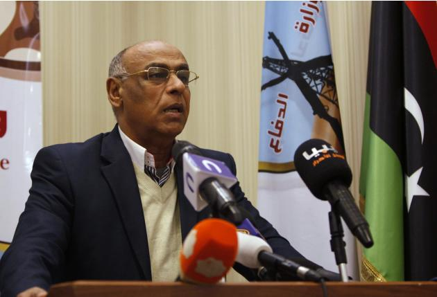 General Abukhamada speaks during a news conference Tripoli