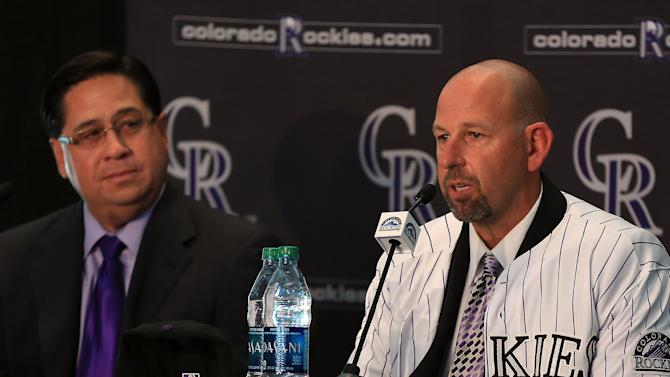 Colorado Rockies Introduce Walt Weiss