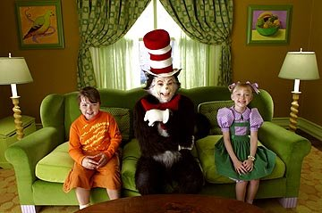 Spencer Breslin , Mike Myers and Dakota Fanning in Universal's Dr. Seuss' The Cat In The Hat