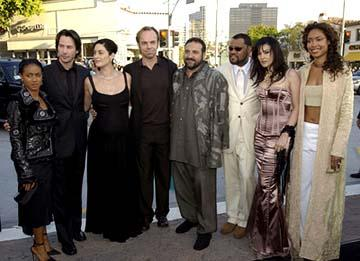 Premiere: Jada Pinkett Smith, Keanu Reeves, Carrie Anne Moss, Hugo Weaving, Joel Silver, Laurence Fishburne, Monica Bellucci and Gina Torres at the Hollywood premiere of Warner Brothers' The Matrix: Reloaded - 5/7/2003