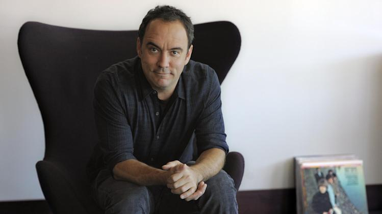 "FILE - In this Aug. 24, 2012 file photo, Dave Matthews poses for a portrait at Capitol Records in Los Angeles. The Dave Matthews Band's new album, ""Away From the World"" releases Sept. 11, 2012. (Photo by Chris Pizzello/Invision/AP, File)"