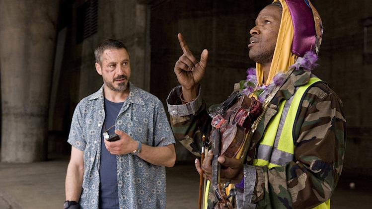 The Soloist Production Stills 2008 DreamWorks Robert Downey Jr Jamie Foxx