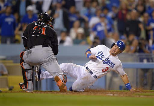 Dodgers end 8-game skid, beating Marlins 7-1