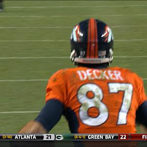 Denver Broncos Eric Decker 20-yard TD reception
