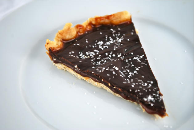 Salted Chocolate and Caramel Tart