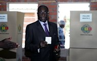 Zimbabwe President Robert Mugabe casts his vote in Harare on March 16, 2013 in the country&#39;s referendum on a new constitution. Mugabe flew into Rome on Monday to attend Pope Francis&#39;s inauguration, sidestepping a travel ban that applies to the EU but not to the sovereign Vatican City state