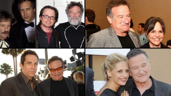 Robin Williams and his friends -- Getty Images