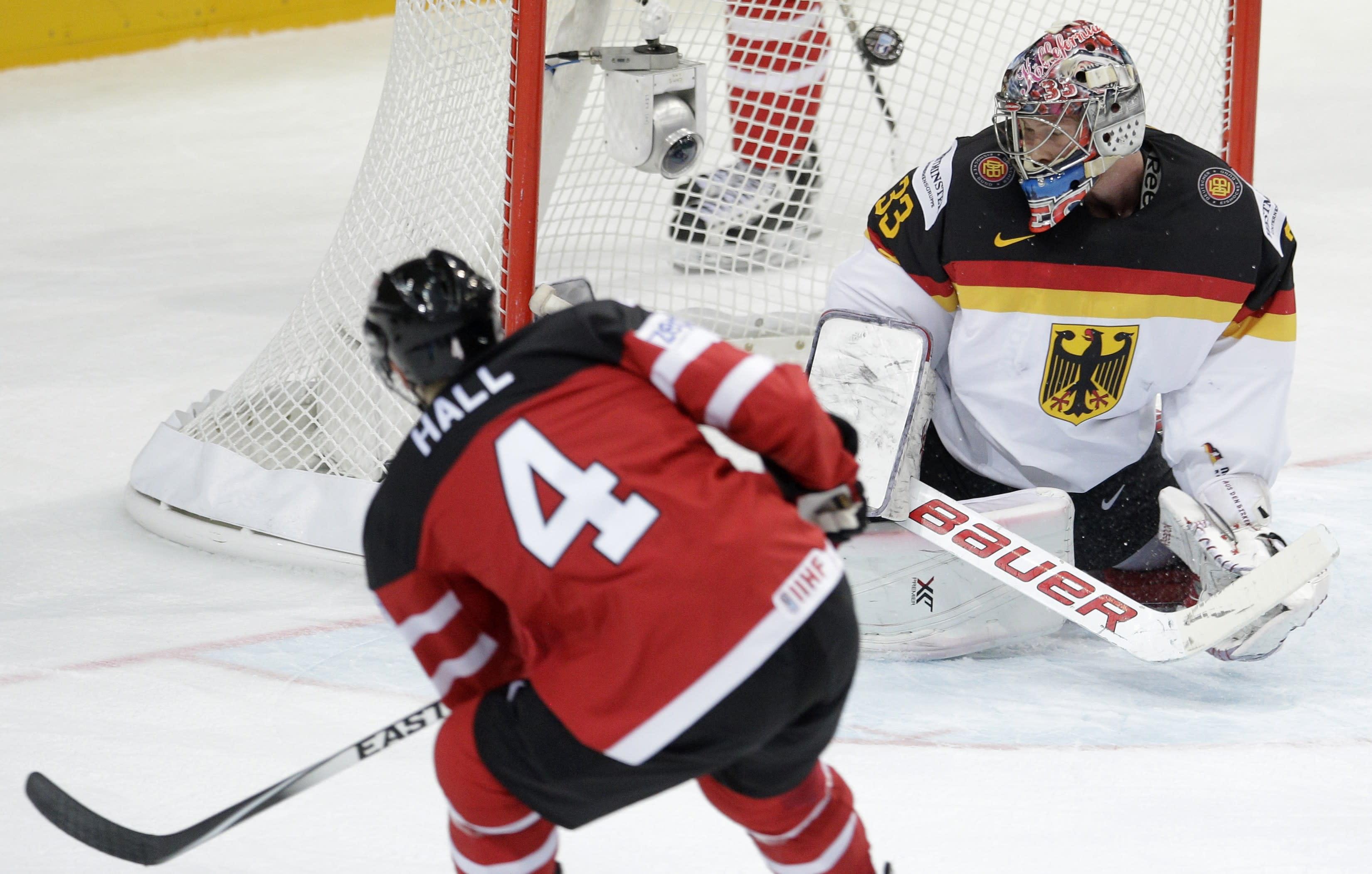 Canada beats Germany 10-0 at ice hockey worlds