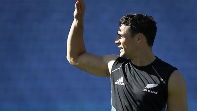 New Zealand's Dan Carter in training (Reuters)