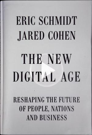 """The New Digital Age book cover is photographed in San Francisco, Friday, April 19, 2013. Google Executive Chairman Eric Schmidt, who spent a decade as the company's CEO, shares his ruminations and visions of a radically different future in """"The New Digital Age,"""" a book that goes on sale Tuesday. (AP Photo)"""