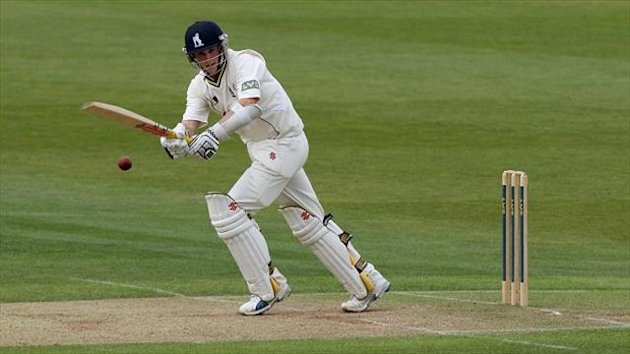 Chris Woakes hit a half century for Warwickshire
