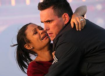 Thandie Newton and Matt Dillon in Lions Gate Films' Crash