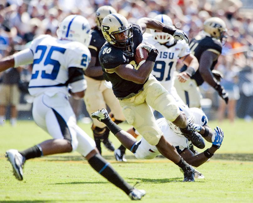 Purdue holds on to beat Indiana State 20-14