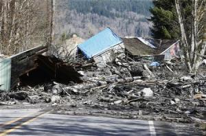 A landslide and structural debris blocks Highway 530 …