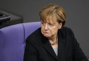 German Chancellor Merkel attends a session of the German…