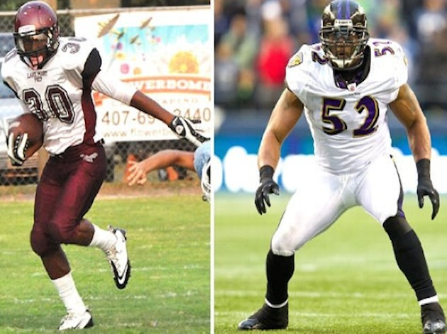 High school star Ray Lewis III and his father, Ray Lewis — Flickr