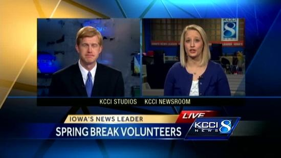 Students spend spring break helping others