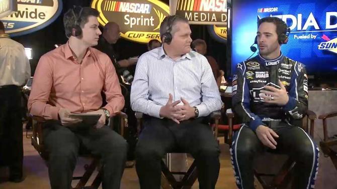 2013 NASCAR Media Day: Jimmie Johnson