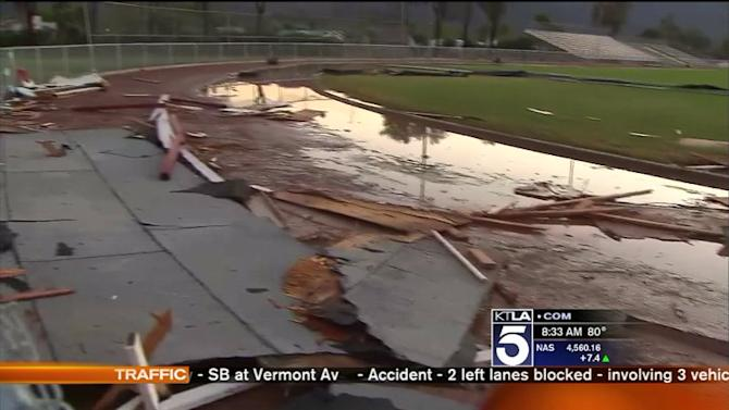 Cleanup Underway at Lake Elsinore Schools Damaged by Thunderstorm