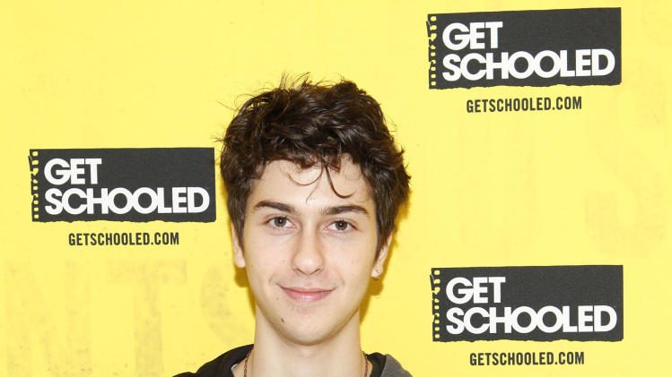IMAGE DISTRIBUTED FOR GET SCHOOLED - Actor Nat Wolff hosts the GET SCHOOLED special screening of ADMISSION and Q&A at the Bronx Validus Preparatory School on Wednesday, March, 6, 2013 in New York City, New York. (Photo by Amy Sussman/Invision for Get Schooled/AP Images)