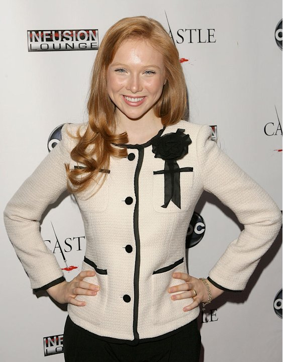 Molly C. Quinn arrives at the &quot;Castle&quot; Season 3 premiere party on September 13, 2010, in Los Angeles. 