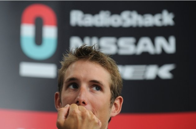 Cyclist Andy Schleck Of Luxembourg Reacts  AFP/Getty Images