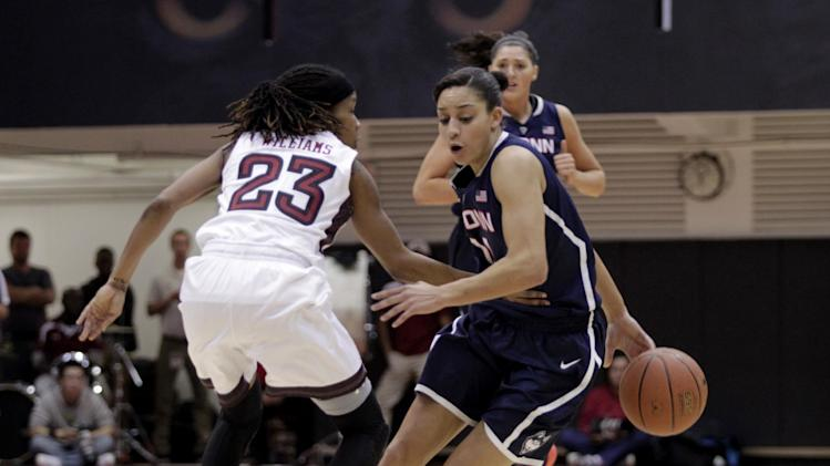 No. 1 UConn wins 28th straight, 93-56 over Temple