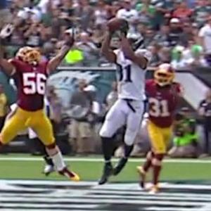 Philadelphia Eagles quarterback Nick Foles 11-yard touchdown pass to Jordan Matthews