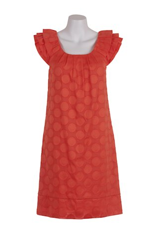 Tutti Frutti Ruffle Neck Dress