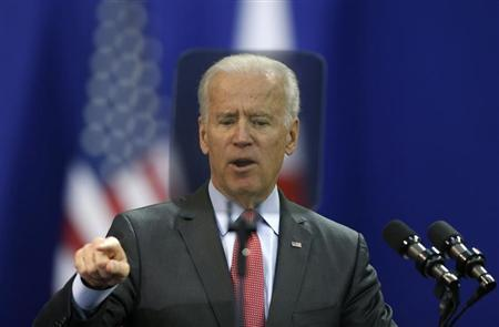 U.S. Vice President Joe Biden delivers his speech at Yonsei University in Seoul