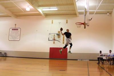 Zach LaVine did ridiculous alley-oop dunks with footballs because he can