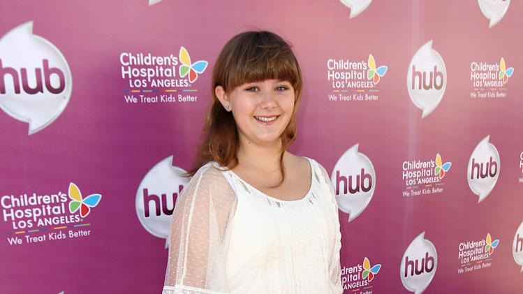 "Ada-Nicole Sanger attends The Hub TV Network's ""My Little Pony Friendship is Magic"" Coronation Concert at the Brentwood Theatre on Saturday, Feb. 9, 2013, in Los Angeles in support of Children's Hospital LA. (Photo by Matt Sayles/Invision for The Hub/AP Images)"