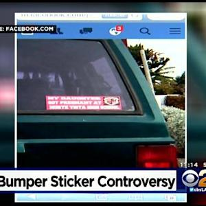 'My Daughter Got Pregnant' High School Bumper Sticker Causing Controversy In Riverside County