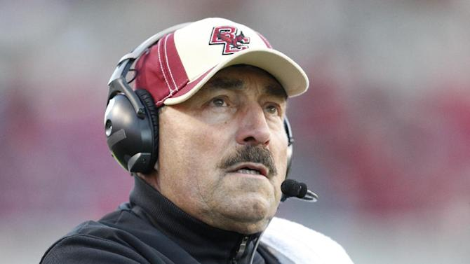 Boston College coach Frank Spaziani watches during the first half of NCAA college football game against North Carolina State on Saturday, Nov. 24, 2012, in Raleigh, N.C. (AP Photo/The News & Observer, Ethan Hyman) MANDATORY CREDIT
