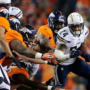 San Diego Chargers running back Ryan Mathews 18-yard run