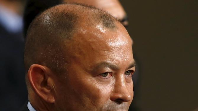 Japan's rugby national team head coach Eddie Jones attends a news conference in which he announces his squad for the upcoming 2015 England Rugby World Cup in Tokyo