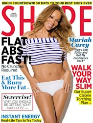 Mariah Carey on the cover of Shape magazine (May 2012) -- SHAPE Magazine