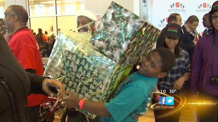 Hundreds of families will have gifts under the tree thanks to generous Chicagoans