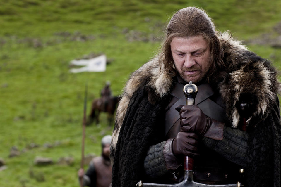 "In this publicity image released by HBO, Sean Bean portrays Eddard Stark in a scene from the HBO series, ""Game of Thrones."" The 63rd Emmy Award nomination announcements will be made on Thursday, July 14, 2011. (AP Photo/HBO, Nick Briggs)"