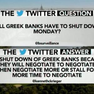 Will Greek Banks Have to Shut Down on Monday?