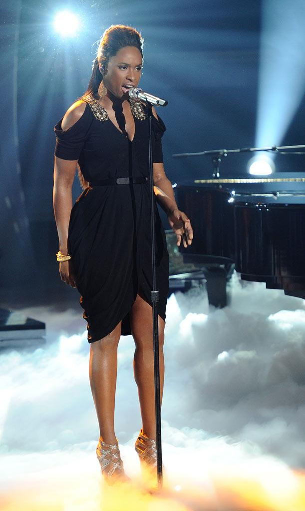 "Jennifer Hudson peforms ""Where You At"" on ""American Idol."""