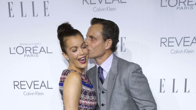 Actor Goldwyn and Young pose at the 21st annual ELLE Women in Hollywood Awards in Los Angeles